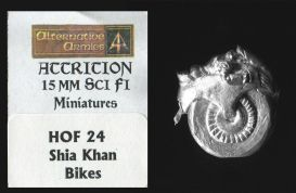Alternative Armies 15mm Sci Fi Attrition HOF24 Shia Khan Bike x 1